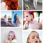 Colour me beautiful ~ Rock & Roll Coloured Bridal Hair