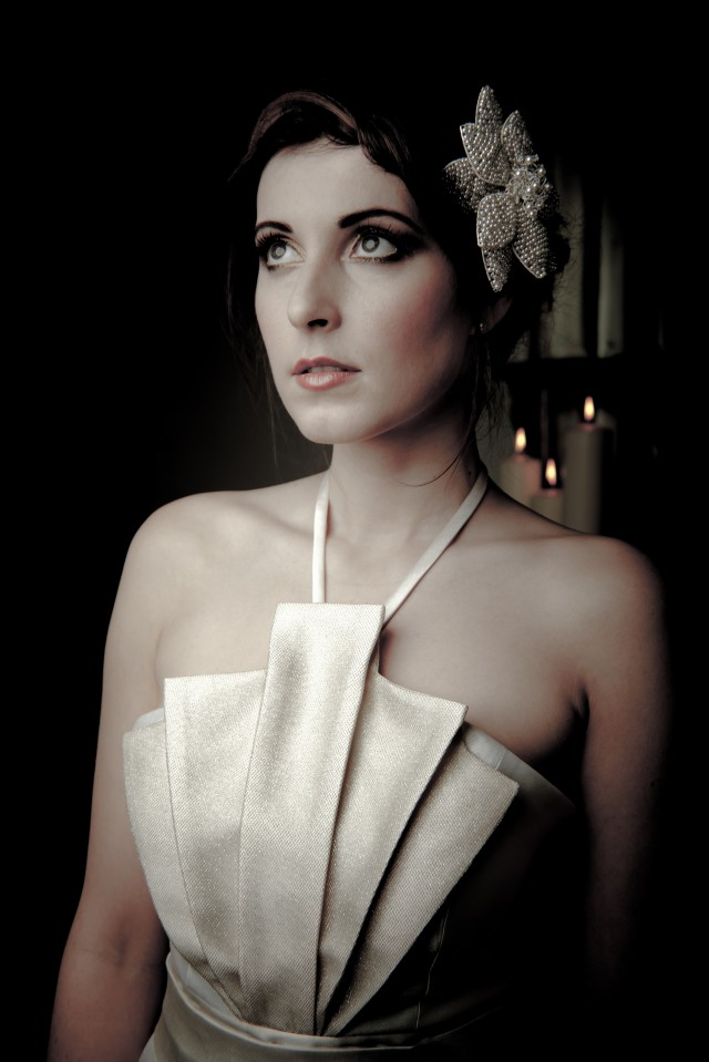 Grande Lilia headpiece -ú155 by Tiararama Dress by Tatiana Porembova - Copy