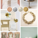Mixed Up Metallics ~ Bridal Inspiration, Mood Board