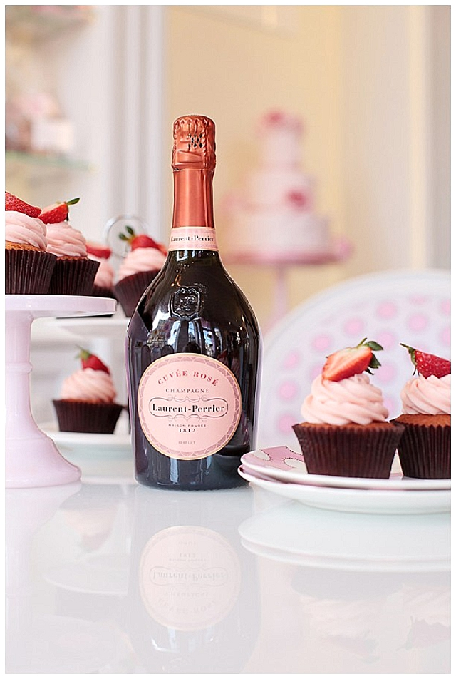 Champagne Laurent-Perrier and Peggy Porschen, London's prettiest cupcake café, the ultimate cream tea