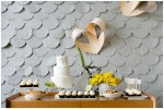 Pretty Scalloped Paper: DIY | Wedding Backdrop