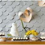 Pretty Scalloped Paper ~ DIY Wedding Backdrop