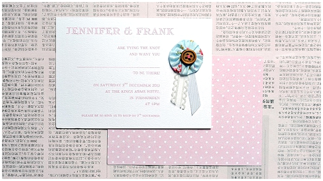modern, quirky and altogether charming wedding stationery