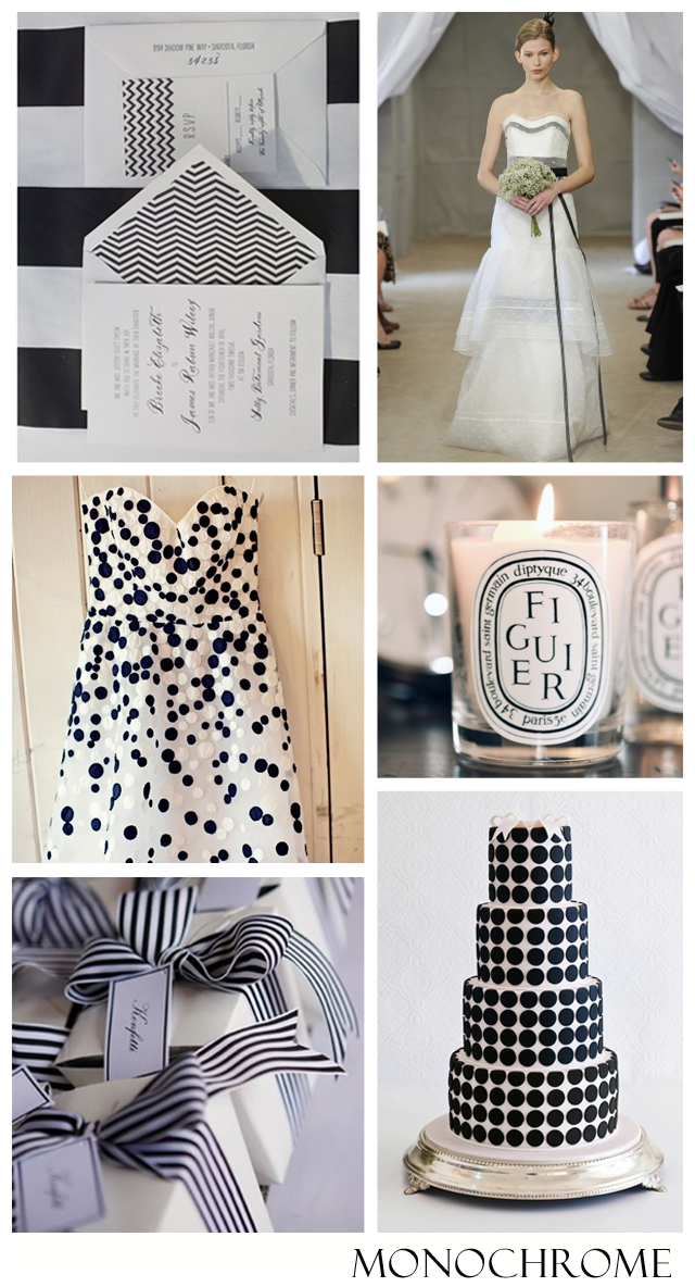 Monochromatic: Black & White | Wedding Inspiration