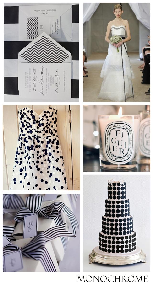 Monochromatic: Black & White | Wedding Inspiration