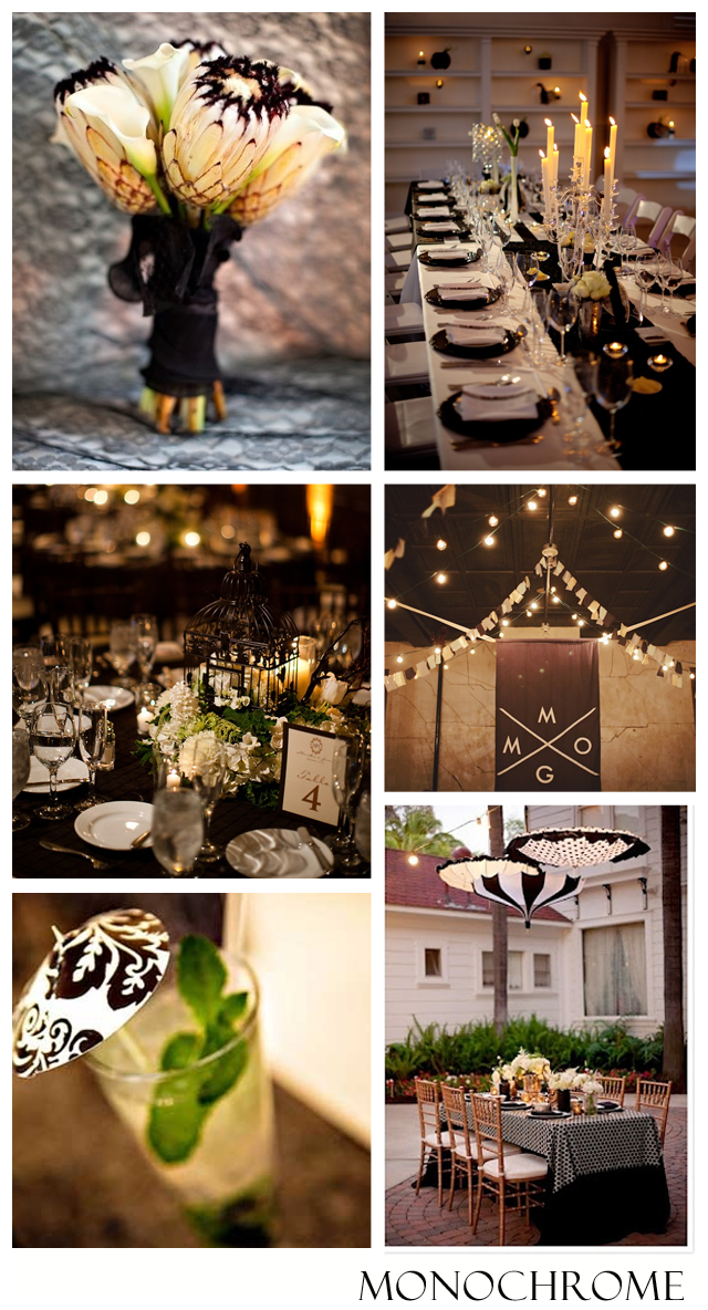 Monochromatic wedding ~black & white