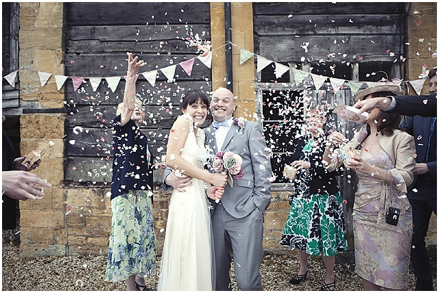 A country cottage style garden wedding in the cotswolds