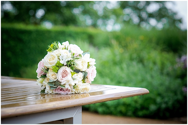 Traditional church wedding with a touch of shabby chic