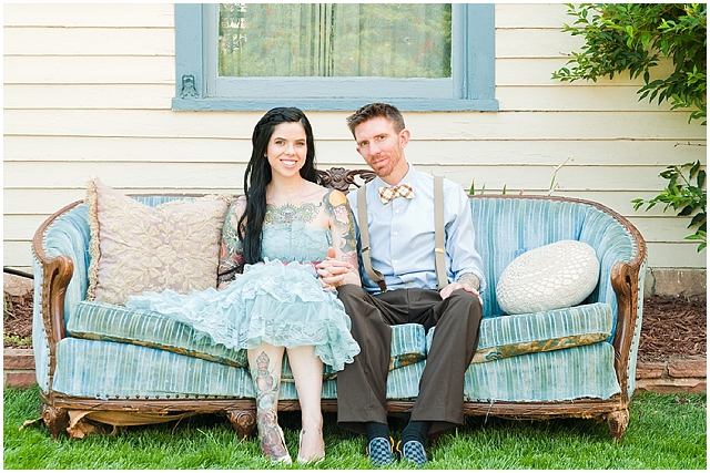 creative: backyard | handfasting wedding