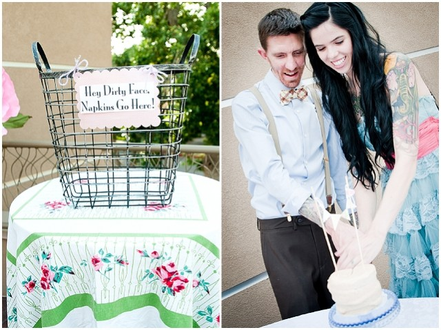 A creative backyard handfasting wedding