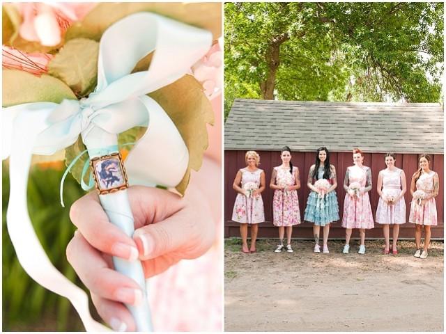 A creative backyard handfasting wedding