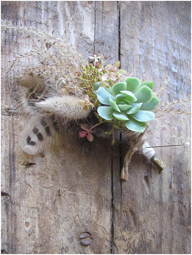 Beautiful autumn buttonholes wedding flowers - the blue carrott