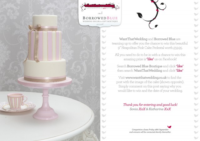 WIN a beautiful pink neapolitan cake stand