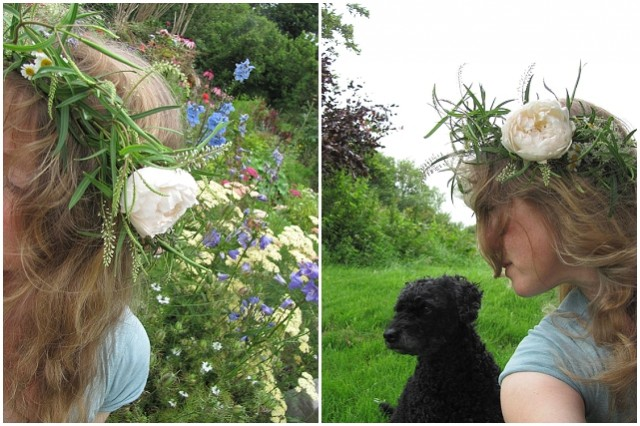 wedding flowers hair crown