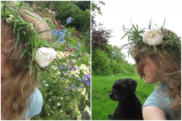 wedding flowers hair crown