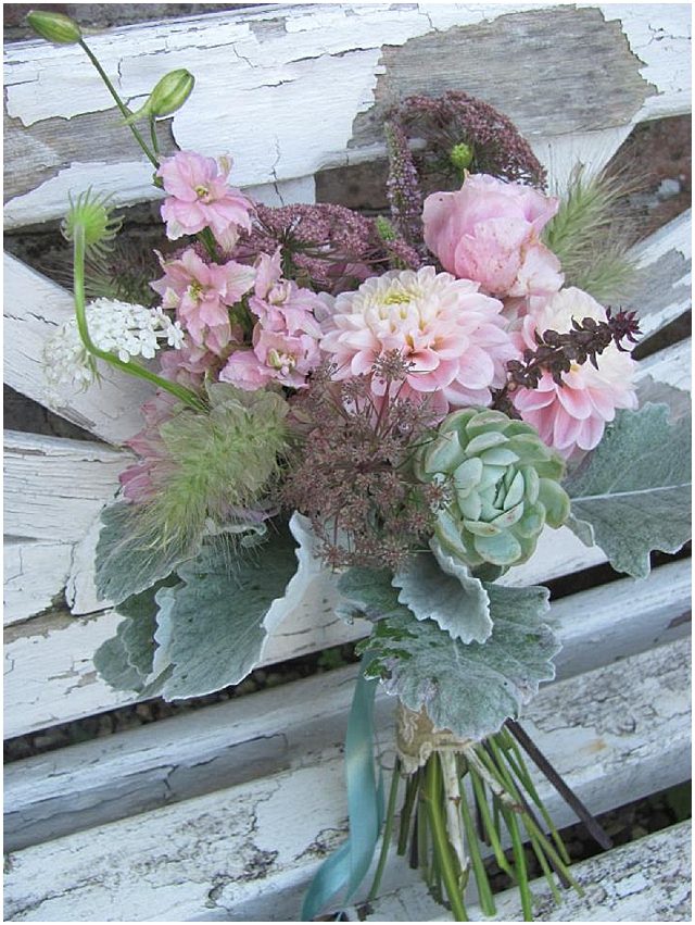 vintage wedding flower bouquet