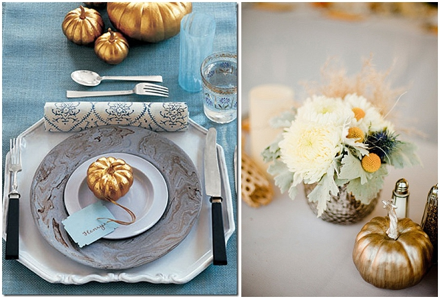 Pumpkin wedding inspiration ~ Autumn wedding ideas