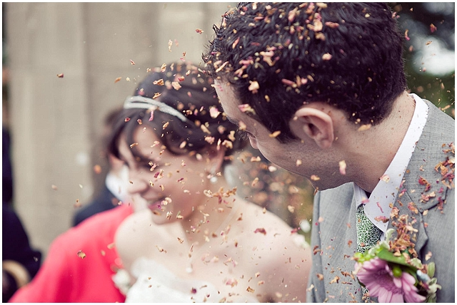 Natural Wedding Confetti ~ Bride & Groom