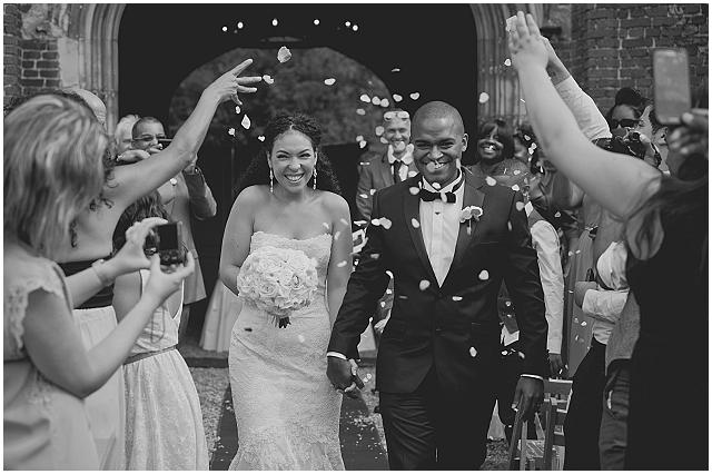 Natural Wedding Confetti ~ Bride & Groom