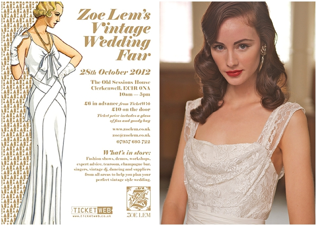 ZOE LEM'S VINTAGE WEDDING FAIR ~ WIN TICKETS