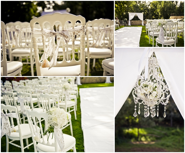 Romantic Outdoor: French Chateau | Real Wedding