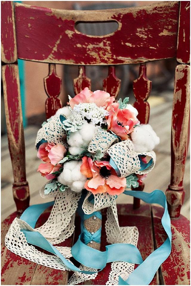 Ribbon streamers on flower bouquets