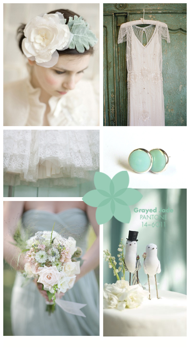 Pantone Wedding Inspiration ~ Greyed Jade