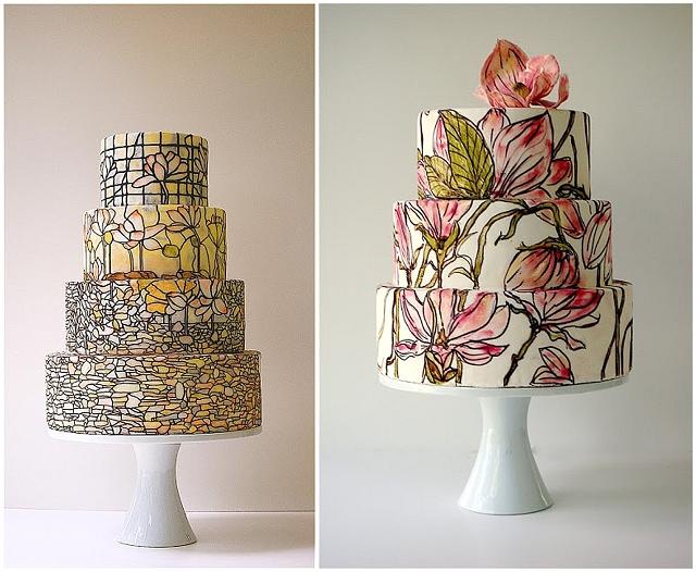 Maggie Austin Tiffany Inspired Wedding Cake