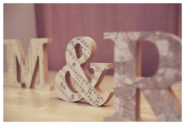 Wooden DIY Initials ~ Wedding Project - Want That Wedding ~ A UK Wedding Inspiration & Wedding Ideas Blog