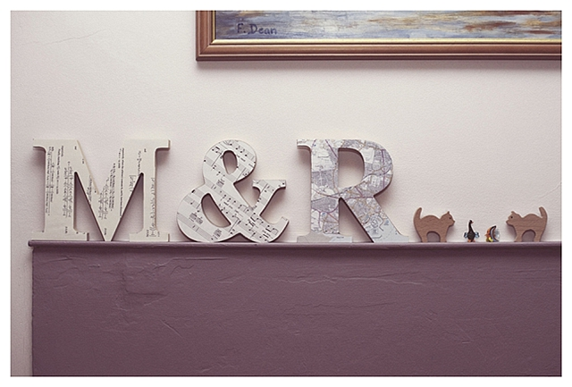 Personalised Letters wooden paper DIY project initials wedding love seniment Rebecca Douglas Photography