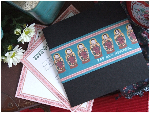 Choosing A Style For Your Wedding Invitations - Russian Doll range