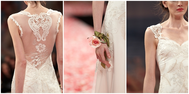 Claire Pettibone Spring 2013 Bridal Collection - Illusion backed wedding gown