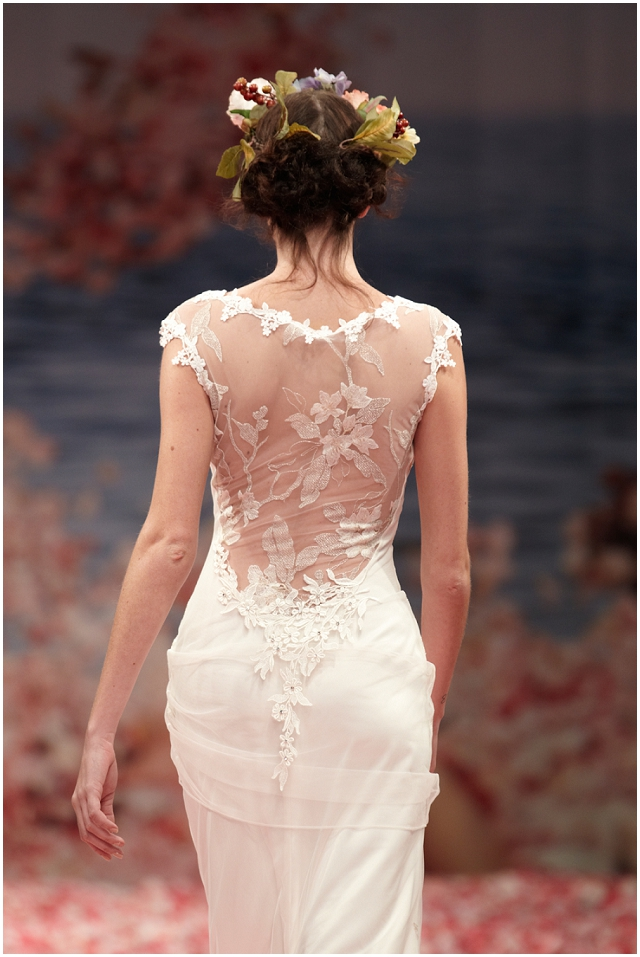 Claire Pettibone Spring 2013 Illusion backed wedding gown