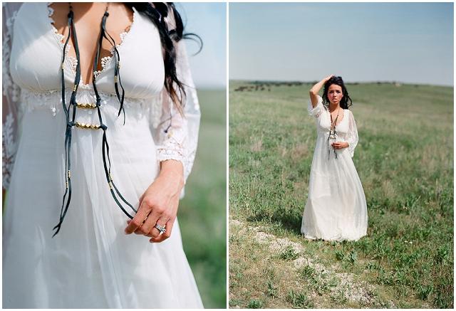 Native American Prairie Bridal Shoot Inspiration - Claire Pettibone