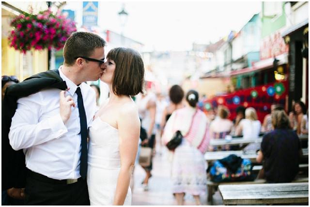 Brighton & Hove | Bride & Groom Street Kiss