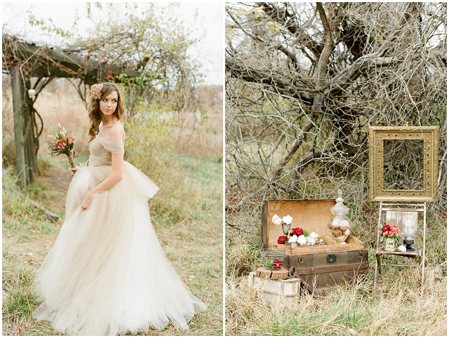 A Wonderfully Rustic & Whimsical Styled Bridal Shoot