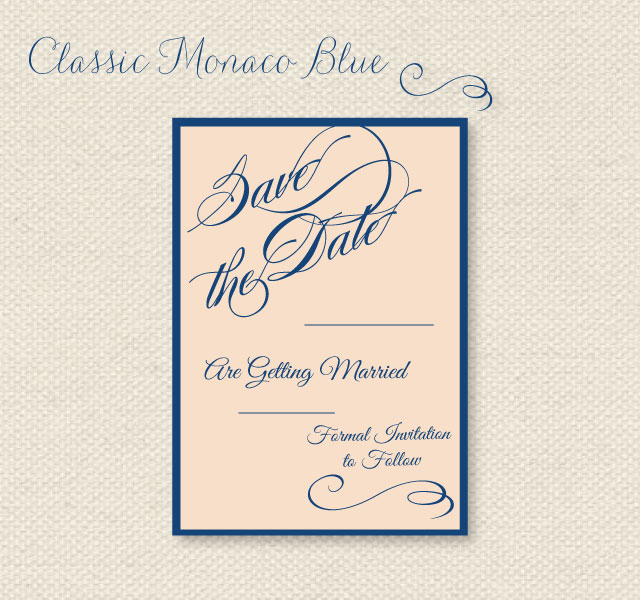 Download Free Printable Save The Dates | Pantone Colours 2013