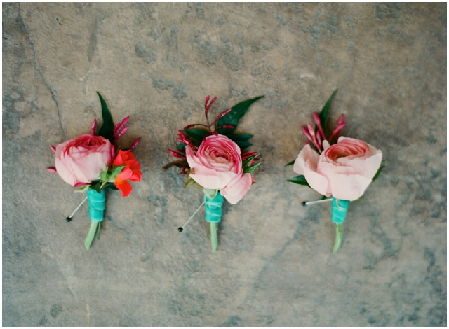 A laid back, rustic wedding with pretty pops of pink!