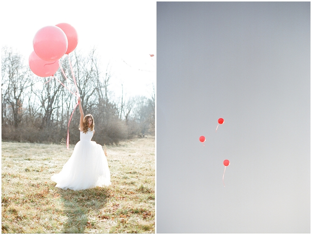 Red, Pink + White: Valentine Bridal Style