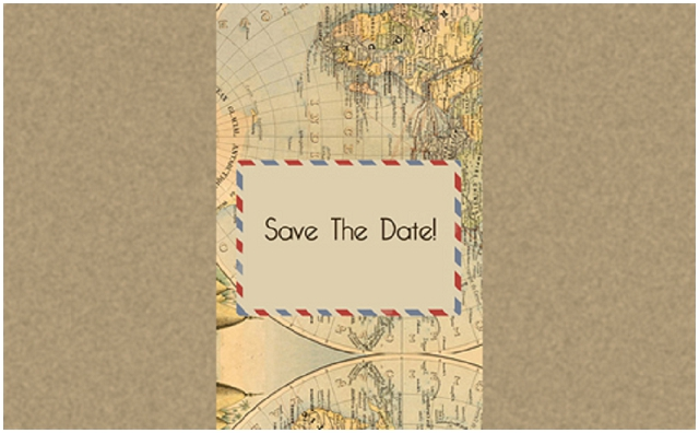 Vintage Travel: Knots & Kisses | Wedding Stationery