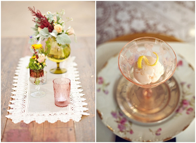 Coloured Glassware: Wedding Ideas + Inspiration