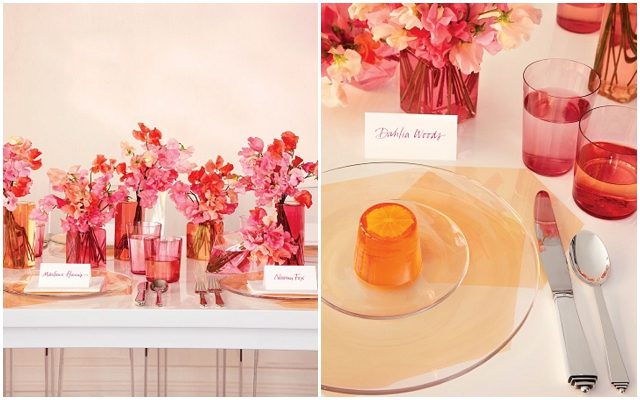 Coloured Glasswear: Wedding Ideas + Inspiration