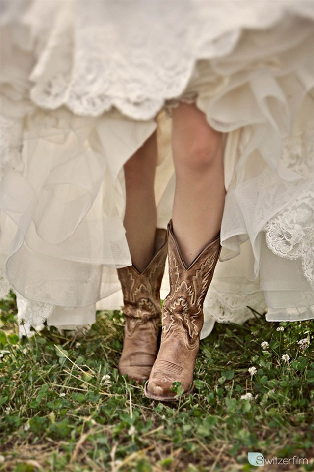 The perfect wedding shoes wedding advice want that for Wedding dresses with cowboy boots