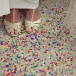 The Perfect Wedding Shoes & Confetti