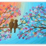 No. 10 'Love Birds' painting