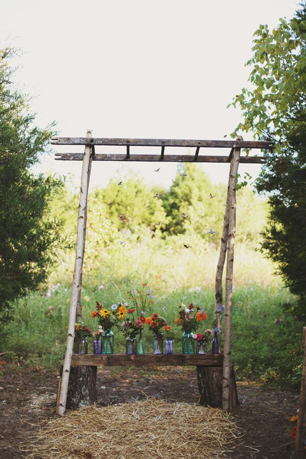 rustic glass bottles
