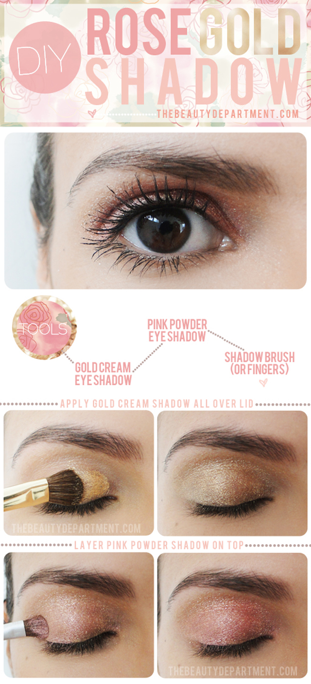 DIY Rose Gold Eye Shadow: Bridal Beauty