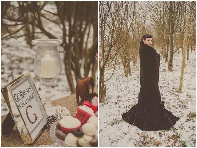 Up-cycled Wedding Inspiration: Snow Day