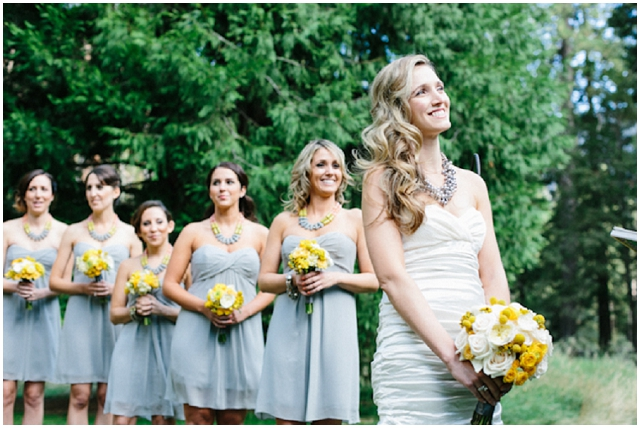 Nature Chic | Grey & Yellow: Real Wedding