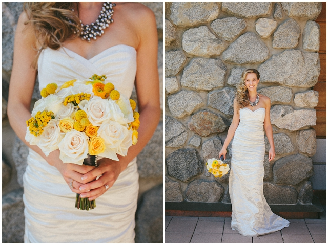 Contemporary Chic | Grey & Yellow: Real Wedding